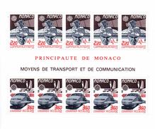Monaco. Bloc No 41. Moyens De Transport.1988. N**