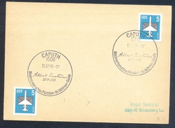 Germany Deutschland DDR 1985 Card; Albert Einstein Autograph Cancellation; Nobel Prize Physics; Famous People