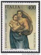 1766 Italia 1983 Madonna Sistina Quadro Dipinto Da Raffaello Nuovo MNH Painting Tableau - Madonne