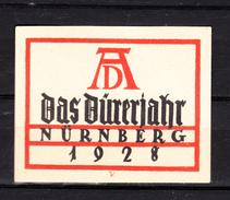 Werbemarken,Reklamemarken,Posterstamps,1V,Durerjahr Nürnberg 1928,sehe Scan(A3316) - Postzegels
