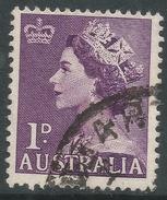 Australia. 1953-6 QEII Definitives. 1d Used SG 261 - 1952-65 Elizabeth II : Pre-Decimals