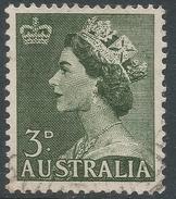 Australia. 1953-6 QEII Definitives. 3d Used SG 262 - 1952-65 Elizabeth II : Pre-Decimals