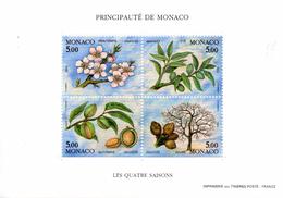 Monaco. Bloc No 60. Les Quatre Saisons De L'amandier.1993.n**