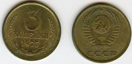 Russie Russia 3 Kopeks 1975 KM 128a - Russia