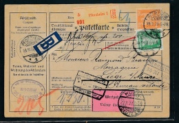 Paketkarte -Ausland  ( T1999  ) Siehe Scan