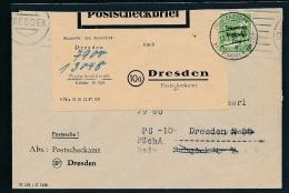 Dresden  Postscheck Brief  ( T2001  ) Siehe Scan