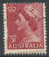 Australia. 1953-6 QEII Definitives. 3½d Used. No Watermark. SG 262a - 1952-65 Elizabeth II : Pre-Decimals