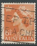 Australia. 1953-6 QEII Definitives. 6½d Used. No Watermark. SG 262b - 1952-65 Elizabeth II : Pre-Decimals