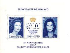 Monaco. Bloc No 48. 25eme Anniversaire Fondation Princesse Grace.1989.n**