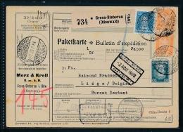 Paketkarte Ausland   ( Ze4978   ) Siehe Scan