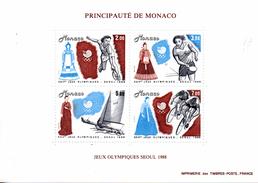Monaco. Bloc No 42. Jeux Olympiques De Seoul.1988.n**