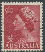 Australia. 1953-6 QEII Definitives. 3½d Used. C Of A Watermark. SG 263 - 1952-65 Elizabeth II : Pre-Decimals