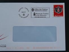 10/05/2017 Musée Des Timbres Et Monnaies Flamme Monaco Sur Lettre Postmark On Cover - Münzen