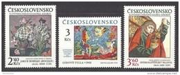 Czechoslovakia 1978 30th Anni Slovak National Gallery Paintings Art Kunstwerke Stamps MNH Michel 2476-2478 Sc 2209-2211