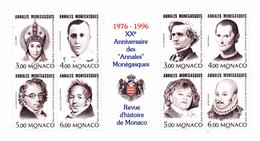 Monaco. Bloc No 72. Les Annales Monégasques.1996.n**