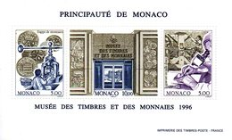 Monaco. Bloc No 73. Musée Des Timbres Et Des Monnaies.1996.n**