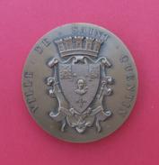 Médaille En Bronze Dans Son écrin - Ville De Saint-Quentin - Année 1992 - Monnaie De Paris