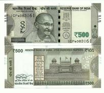 India 500 Rupees P-108 2017 Letter R, REPLACEMENT, UNC - India