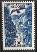 "TS28 - ANDORRE FRANCAIS STAMP TIMBRE AERIEN N°4 "" VALIRA DE L'ORIENT 500F "" NEUF Xx TTB - MNH Valeur Catalogue 200 Euro"