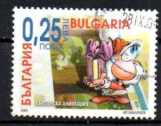BULGARIE. 1 Timbre Oblitéré Du BF 204 De 2001. Dessin Animé Bulgare/Père Noël.