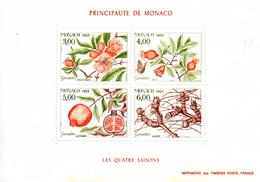 Monaco. Bloc No 44. Les Quatre Saisons Du Grenadier.1989.n**