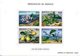 Monaco. Bloc No 51. Les Quatre Saisons Du Citronnier.1990.n**