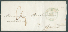 Lettre De BRUXELLES Le 23 Février 1850 + Griffe BUREAU A Vers Gand; Taxée 3 Décimes - 11885 - 1830-1849 (Belgique Indépendante)