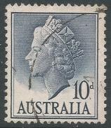 Australia. 1955-7 QEII Definitives. 10d Used. SG 282c - 1952-65 Elizabeth II : Pre-Decimals