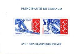 Monaco. Bloc No 63. Jeux Olympiques De Lillehammer.1994.n**