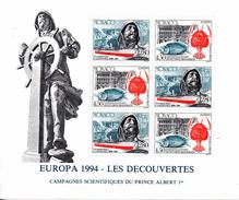 Monaco. Bloc No 65.europa.les Decouvertes.1994.n**
