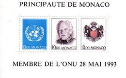 Monaco. Bloc No 62.monaco Membre De L'onu.1993.n**