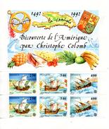 Monaco. Bloc No 57.découverte De L'amérique Par Christophe Colomb.1992.n**