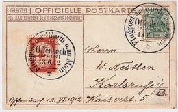DR, 1912, Rhein-Main, Seltene Karte , #8246
