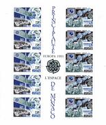 Monaco. Bloc No 52europa.l'espace.1991.n**