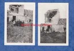2 Photos Anciennes D'un Poilu - CHATEAU THIERRY - Ferme Ou Immeuble En Ruines Suite à La Guerre - 1919 Ww1