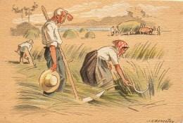 Barré Dayez : Croquis Régionnaux Illustrés Par Bonnefoy La Fenaison Dans Ma Vallée  N° 1302 A - Künstlerkarten