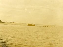 Chine Tianjin Tien-Tsin Port De Takou Tanggu Un Steamer Naufragé Ancienne Photo 1906 - Boats