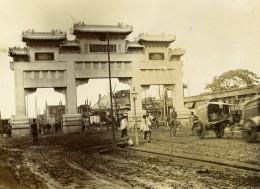 Chine Pékin Beijing Arc De Triomphe De Ketteler Ancienne Photo 1906