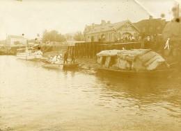 Chine Tianjin Tien-Tsin Douane Fluviale Sur Le Pei Ho Hai He Ancienne Photo 1906