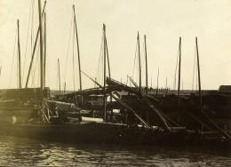 Chine Tianjin Tien-Tsin Tientsin Bateaux Le Long Du Canal Imperial Ancienne Photo 1906