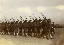 Chine Tianjin Tien-Tsin Section D'infanterie Japonaise Defile Militaire Ancienne Photo 1906