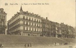 Heyst  S/Mer   -   La Digue Et Le Grand Hôtel Des Bains  -   1926   Naar  Breedene - Heist