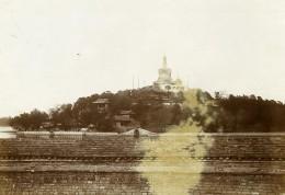 Chine Pékin Beijing Parc Beihai Stupa Blanche Jardin Impérial Ancienne Photo 1906 - Places