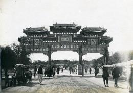 Chine Pekin Beijing Paifang Decoree Architecture Chinoise Ancienne Photo 1906