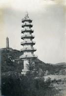 Chine Pékin Beijing Pagode Huazang Yu Feng Colline De La Fontaine De Jade Ancienne Photo 1906