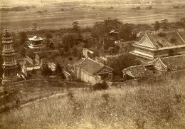Chine Pékin Beijing Pagode Colline De La Fontaine De Jade? Ancienne Photo 1906