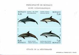 Monaco. Bloc No 56.cetaces De La Mediterannee.1992.n**