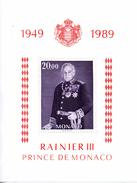 Monaco. Bloc No 45.prince Rainier III.1989.n**