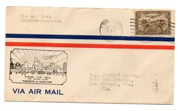 Carta  De 1929  Primer Vuelo Toronto To Hamilton  Con Matasellos Por Detras Protect The Birds And Help The Crops.