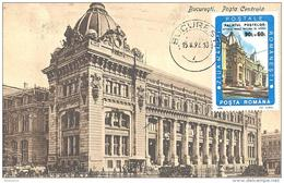 Hauptpoistamt Bukarest  (jetzt Historisches Museum) Michel # 5004  Maximum Karte